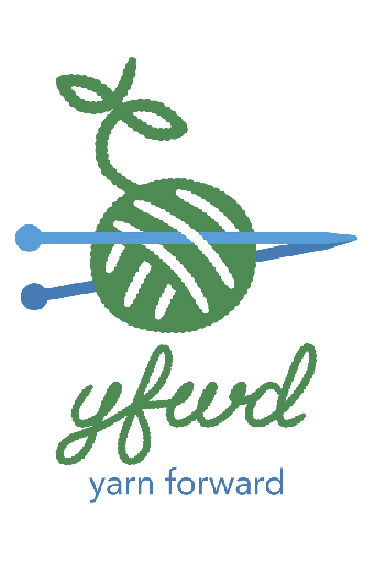 Image: Yarn Forward logo, full colour version © copyright David McClelland 2017. All rights reserved